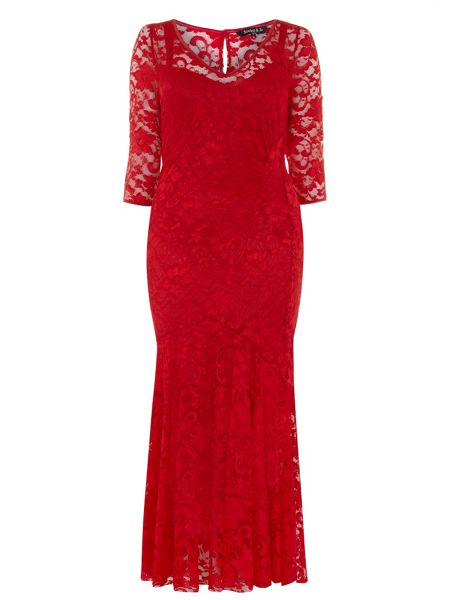 Plus Size Red Maxi Dress Uk 116