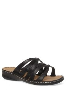 Extra Wide Fit Leather Strappy Sandals