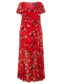 Evans Plus Size Printed Maxi Dress