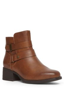Extra Wide Fit Square Toe Strap Boot