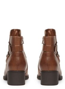Evans Extra Wide Fit Square Toe Strap Boot