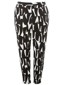 Plus Size Printed Trousers