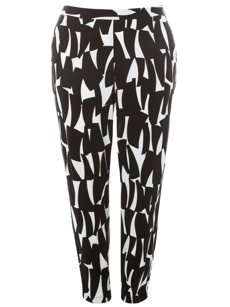 Evans Plus Size Printed Trousers
