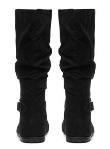 Extra Wide Fit Suedette Slouch Boot