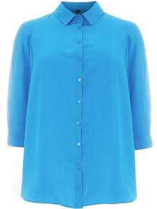 Plus Size Green Workwear Shirt