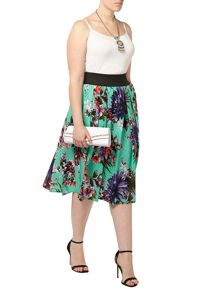 Plus Size Printed Skirt