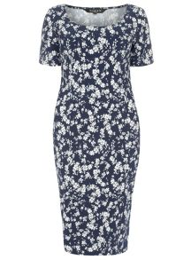 Plus Size Floral Stretch Dress