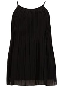 Evans Plus Size Black Pleat Cami Top