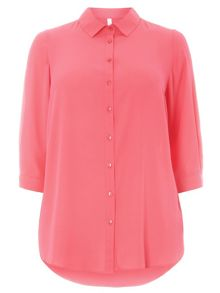 Plus Size Pink Workwear Shirt