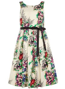 Plus Size Floral Prom Dress