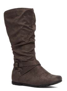 Extra Wide Suedette Slouch Boot