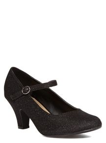Extra Wide Fit Mary Jane Heeled Shoes