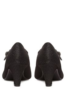 Evans Extra Wide Fit Mary Jane Heeled Shoes