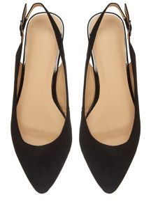 Extra Wide Fit Suedette Slingback Pump