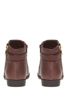 Evans Extra Wide Fit Berry Zip Ankle Boot