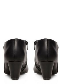 Evans Extra Wide Fit Black Asymmetric Shoe Boot