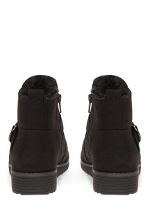 Evans Extra Wide Fit Shearling Lined Boots