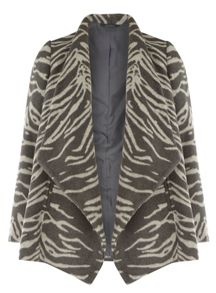 Evans Zebra Waterfall Coat