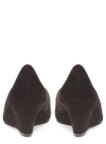 Evans Extra Wide Fit Wedge Heeled Shoes