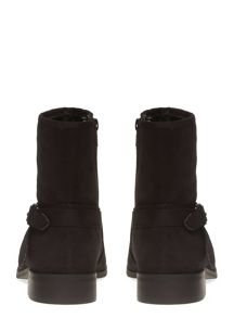 Evans Extra Wide Fit Black Suedette Chain Boot