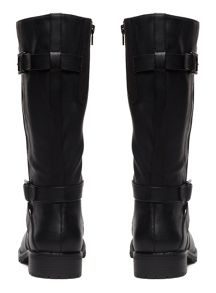 Evans Extra Wide Fit Double Strap Biker Boot