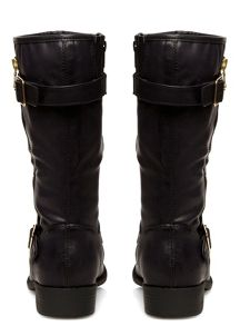 Evans Extra Wide Fit Zip Biker Boots