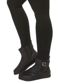 Extra Wide Fit Black Stretch Ankle Boots