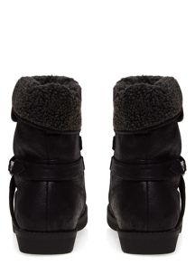 Extra Wide Fit Shearling Trim Boots