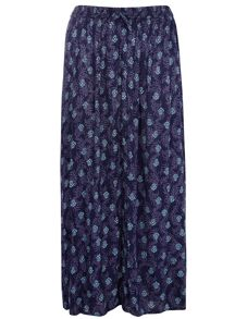Plus Size Printed Crinkle Maxi Skirt