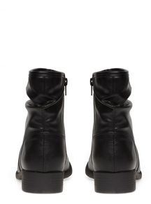 Extra Wide Fit Black Slouch Ankle Boot
