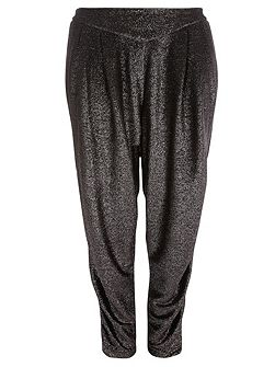Silver Glitter Tapered Trousers
