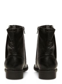Extra Wide Fit Biker Ankle Boots