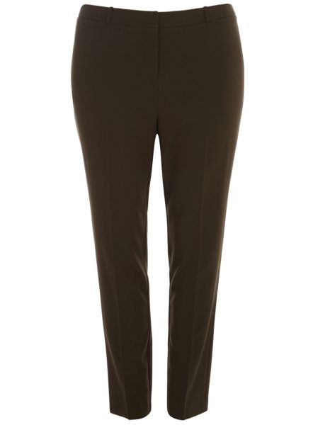 Evans Khaki Green Tapered Trousers