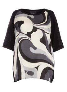 Evans Live Unlimited Swirl Print Top