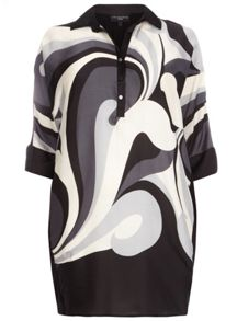 Evans Live Unlimited Swirl Print Shirt