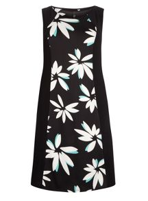 Plus Size Floral Panel Midi Dress