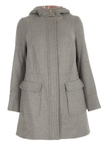 Evans Grey Double Faced Duffle Coat