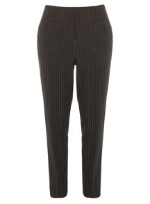Black and White Tapered Trousers