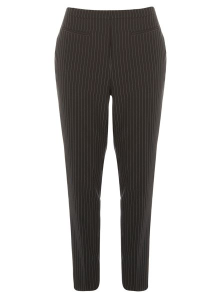 Evans Black and White Tapered Trousers