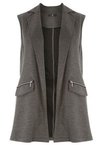 Evans Grey Sleeveless Jacket