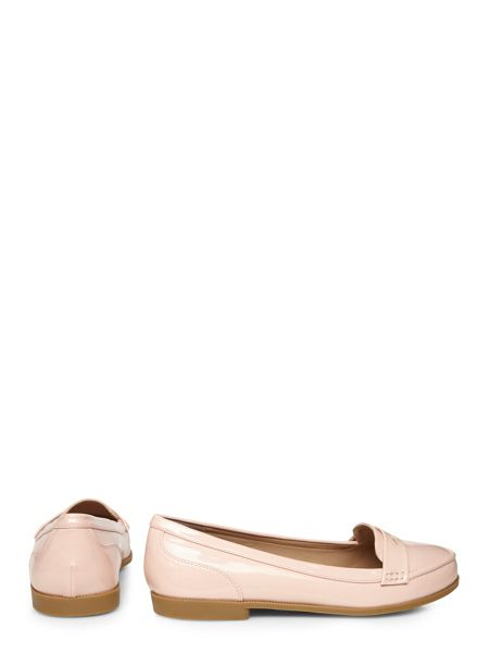 Evans Extra Wide Fit Nude Patent Loafer