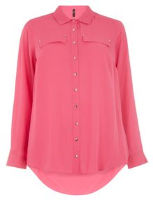 Evans Pink Fashion Shirt