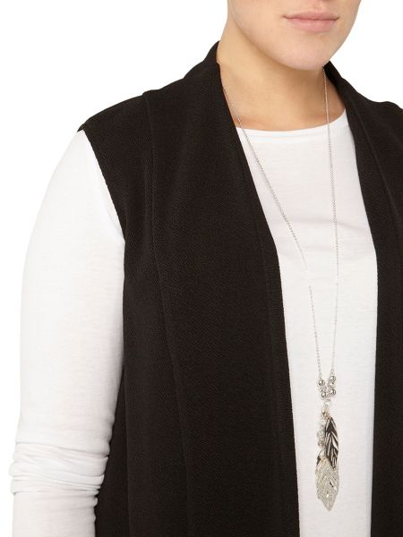 Evans Black Sleeveless Jacket