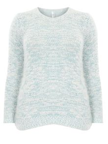 Evans Blue And Ivory Fluffy Jumper