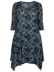 Evans Scarlett & Jo Printed Jersey Dress