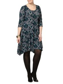 Scarlett & Jo Printed Jersey Dress