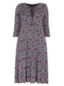 Evans Scarlett & Jo Cross Front Midi Dress