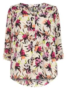 Floral Print Workwear Shirt