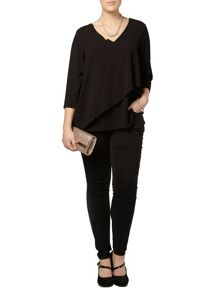 Black asymetric layer top