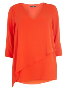 Orange Double Layer Top